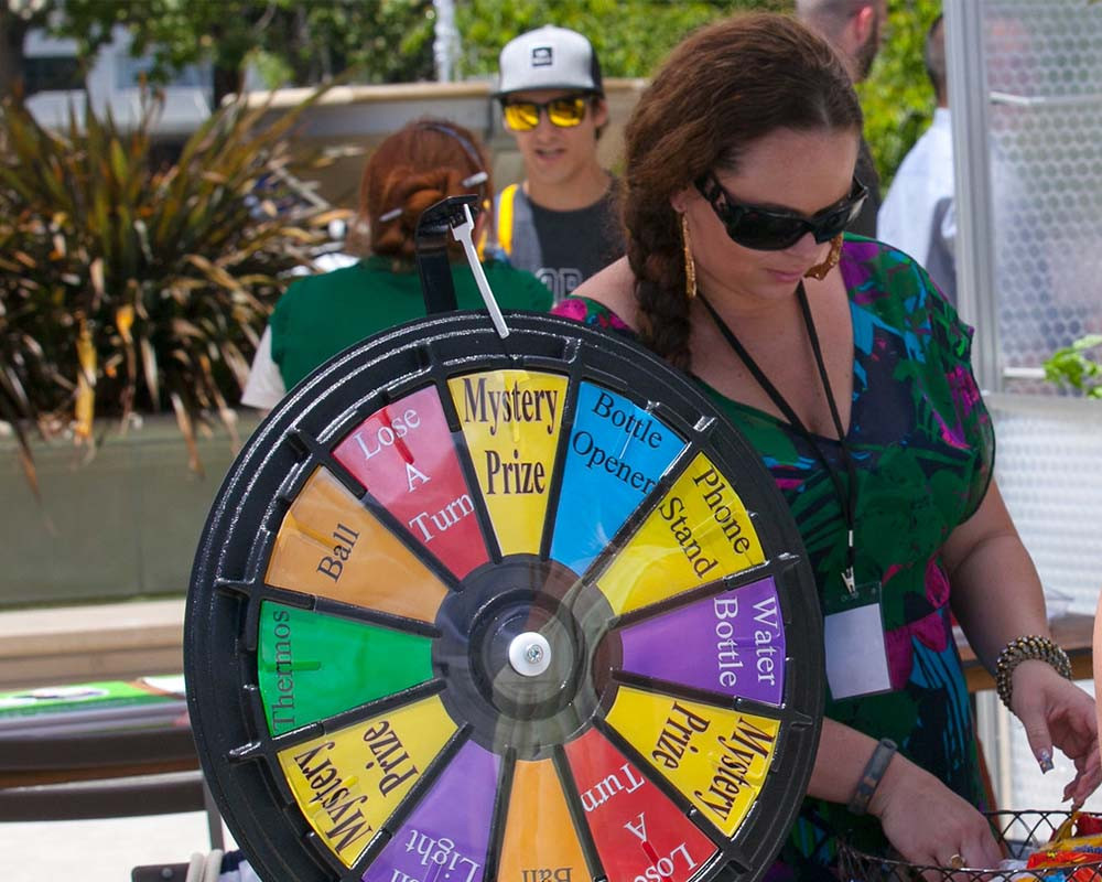Wheel of Fortune at a trade show
