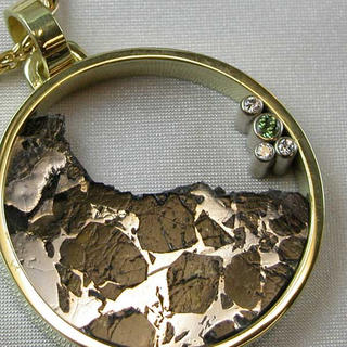 Meteorite Circle Pendant