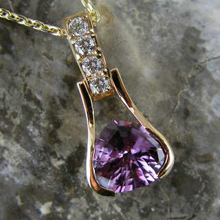 Purple Spinel pendant