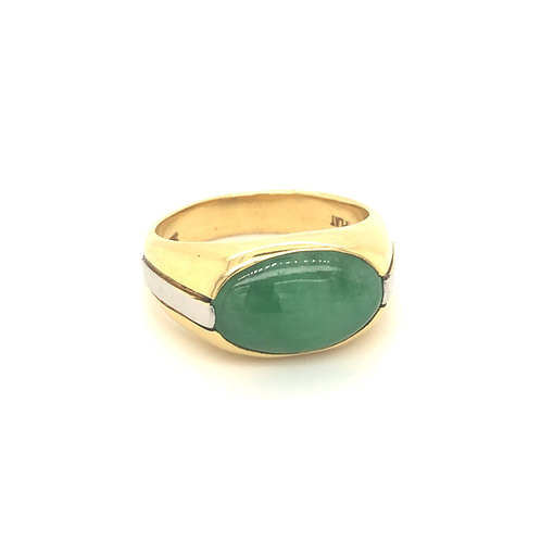Two tone low profile ring