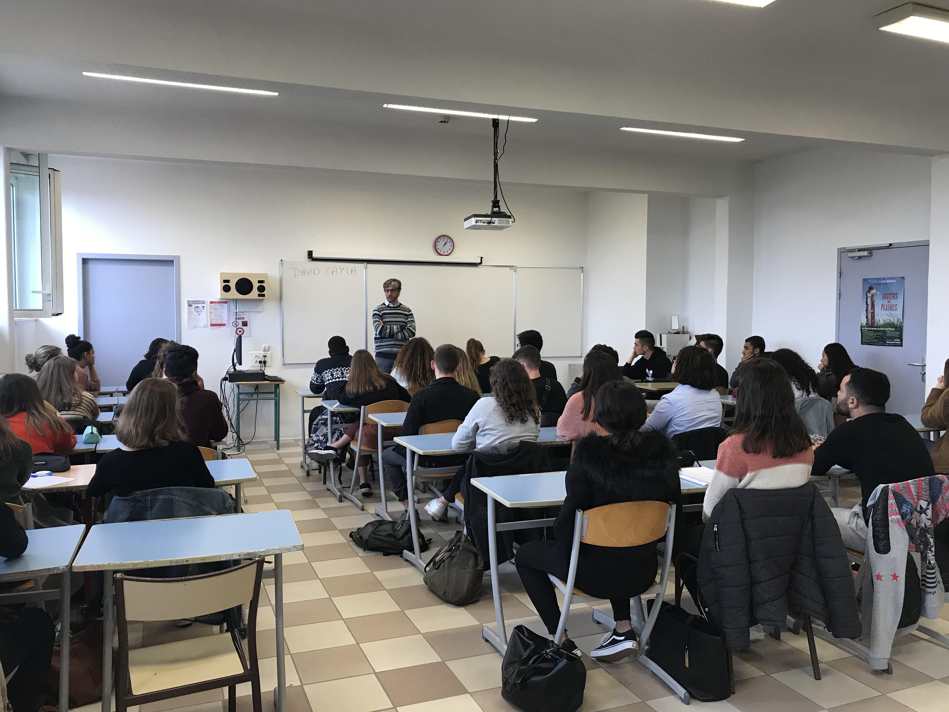 Conférence David Cayla (Lycée)