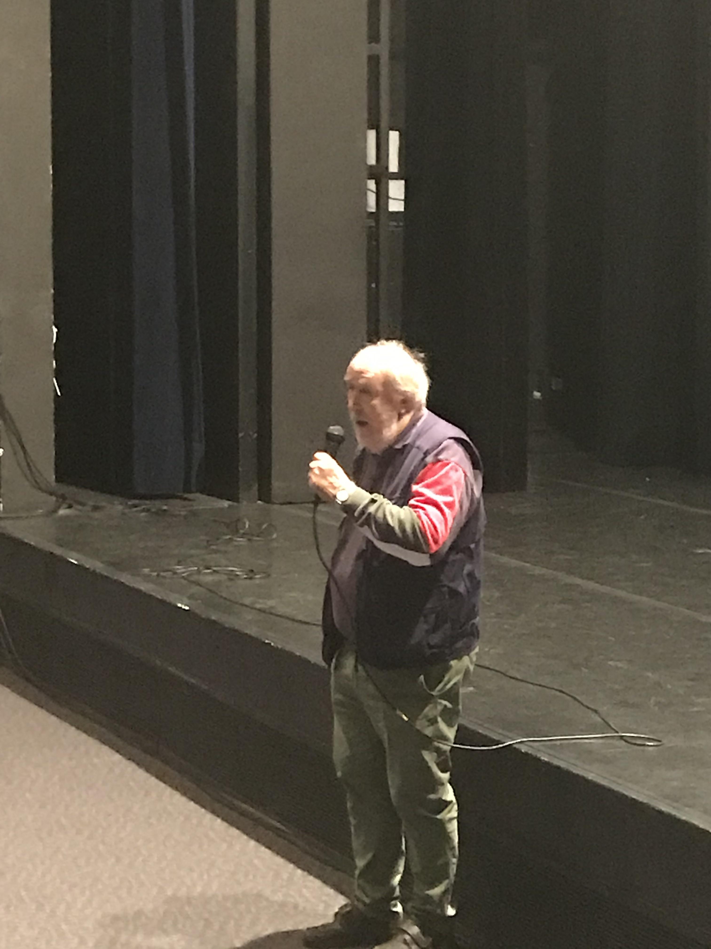 Jean-Pierre Bousquet dans sa présentatio