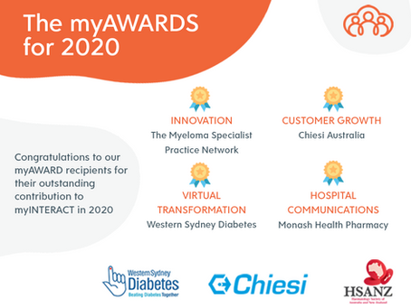 The myAWARDS for 2020