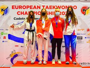 אמונה סמואלס, מדליית כסף באליפות אירופה לקדטיות 2020