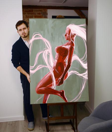 """Obraz """"Czerwona Kobieta"""""""