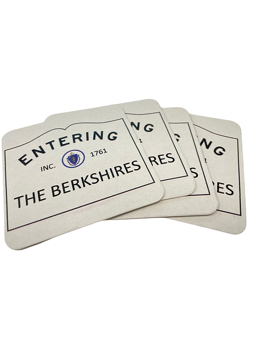 """""""Entering the Berkshires"""" Paper Coasters (set of 4)"""
