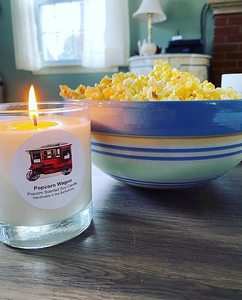 Popcorn Wagon Popcorn Scented Soy Candle