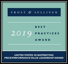 Frost & Sullivan 2019 3D Bioprintng Leadership Award