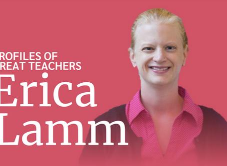 Great Teachers: Dr. Erica Lamm