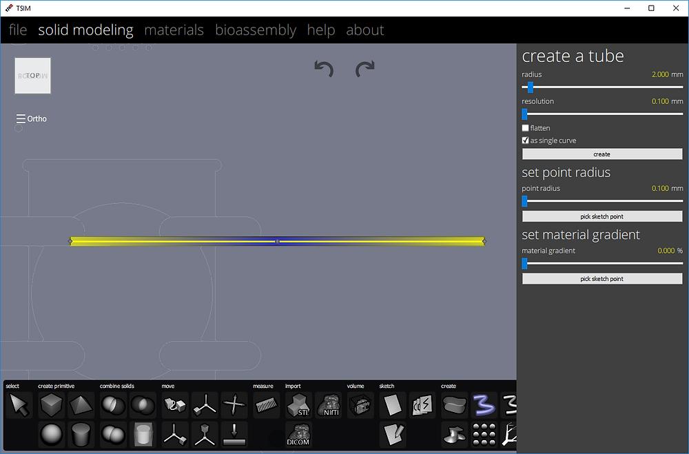 Figure 2 - Creating the gradient in TSIM