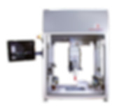 BioAssemblyBot 3D bioprinter (six-axis robot) take from outside of its enclosure, armed with an Ambient extrusion 3D bioprinting tool and centered on the build platform