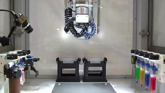 3d bio printer bioprinting with multiple materials at once.