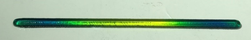 Figure 4 - The gradient as printed by BioAssemblyBot.