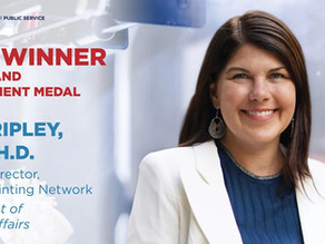 Dr. Beth Ripley, BioAssemblyBot user, Receives Service to America Medal