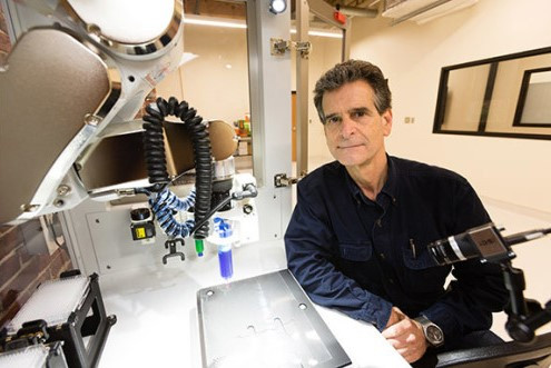 Dean Kamen with the BioAssemblyBot bioprinter, 3d bioprinting