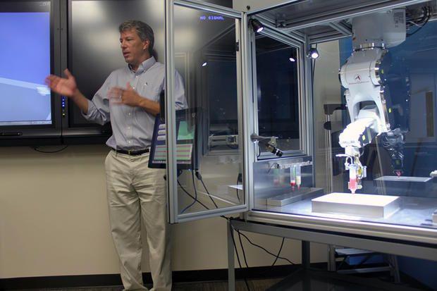 Dr. Jay Hoying with a BioAssemblyBot bioprinter