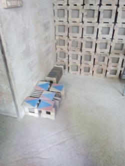tiles drying
