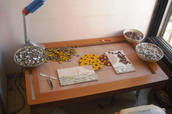 tiles and mosaics pieces