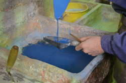 blue color mixing