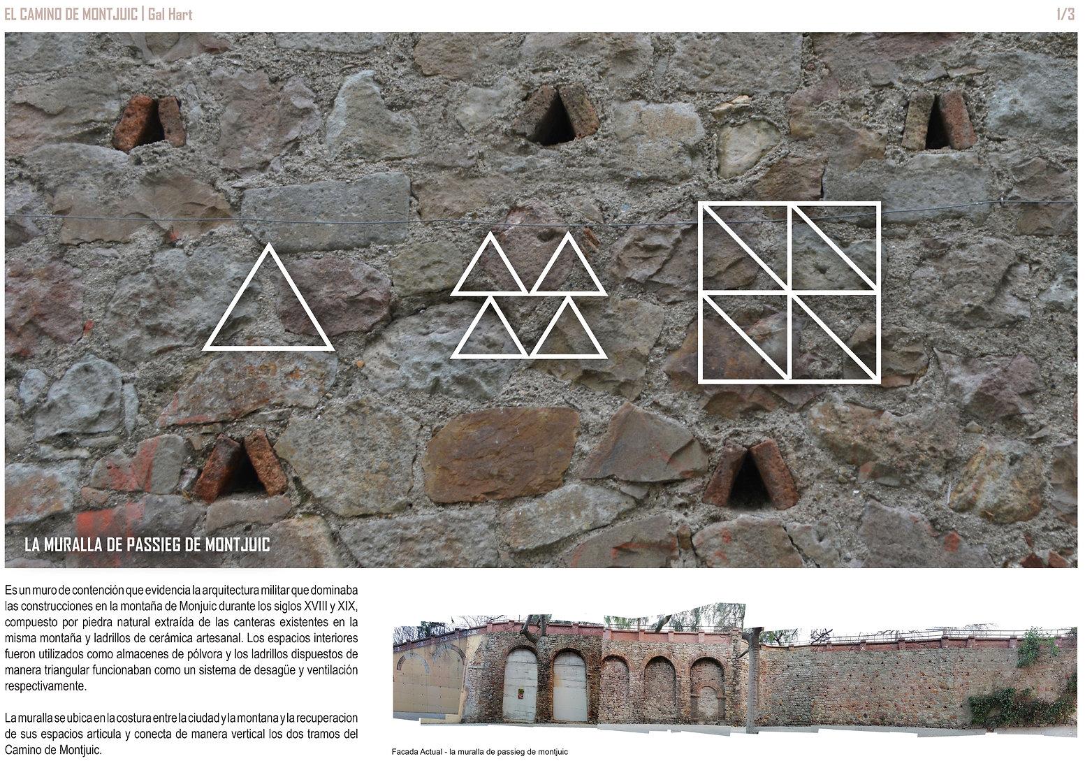 La Muralla de Passieg de Montjuic