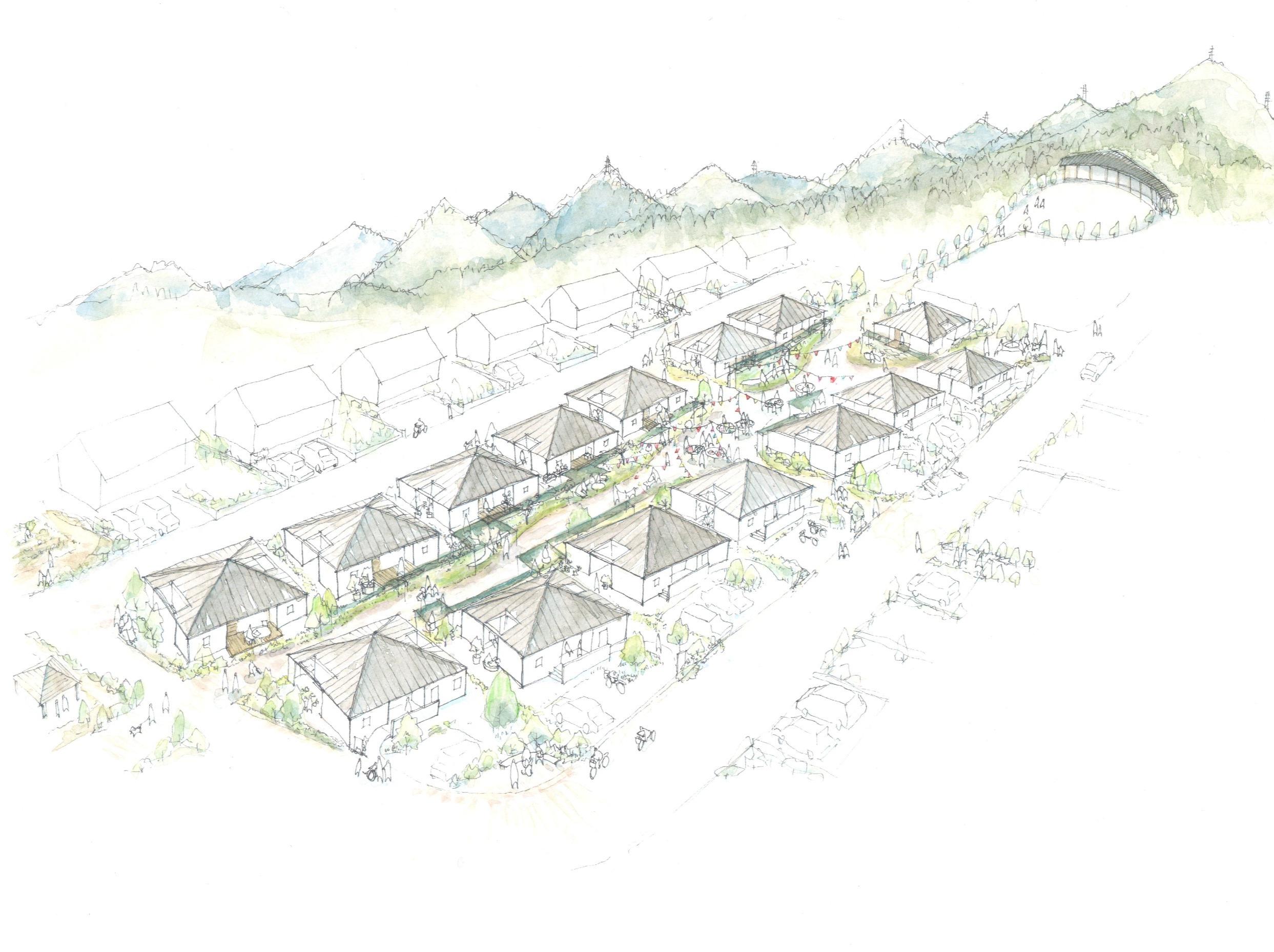 大熊町大川原地区(戸建住宅1期)復興公営住宅