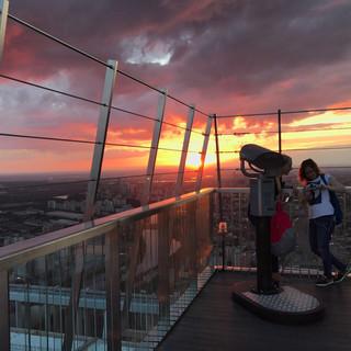 Закат в Москва-сити.JPG