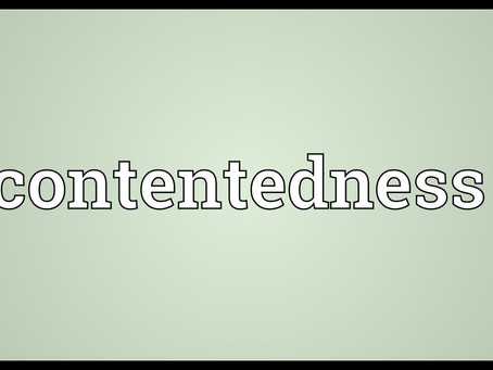 Calming Fear with Contentedness.