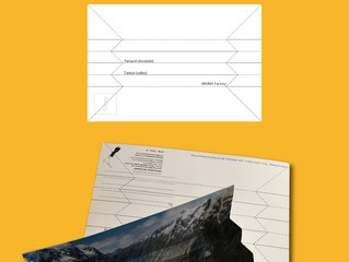 Postcard tray