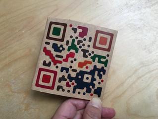 デザインQRコードの折財布