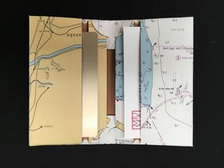 廃版海図を再利用したカードケース