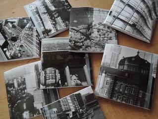 東京の町並みをプリントした紙財布です。