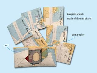 海図で作る折財布