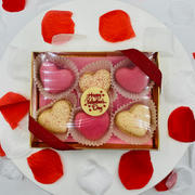 Heart Macarons Box (6pc)