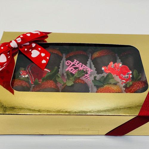 10pc Chocolate Covered Strawberries - Gold Box