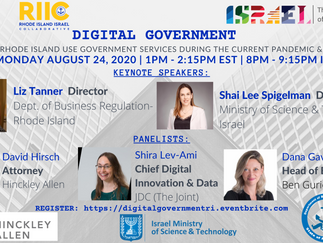Digital Government:    How Israel & Rhode Island Use Government Services During the Current Pandemic