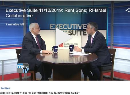Avi Nevel CEO of the RI Israel Collaborative (RIIC) on Executive Suite on FOX Channel 12 RI Intervie