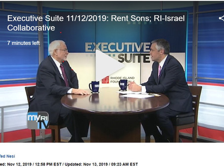 Avi Nevel CEO of the RI Israel Collaborative (RIIC) on Executive Suite on FOX Channel 12 RI Intervie