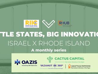 Recording of Little States, Big Innovation: Israel X Rhode Island  with Startups Yazamut 360 at BGU