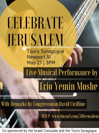 Celebrate Jerusalem Day Newport May 21st