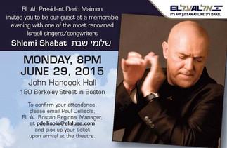 Shlomi Shabat Free Concert in Boston
