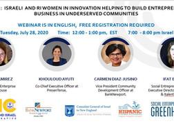 Webinar: Israeli and RI Women in Innovation Helping to Build Entrepreneurial Business