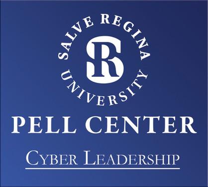 Pell Center logo White on Blue (Cyber)