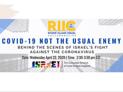 Recording of Webinar: COVID-19   Not the usual enemy: Behind the scenes of Israel's fight agai