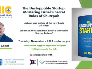 What Can We Learn from Israel's Innovative Startup Culture? Online Lecture with Author Uri Adoni