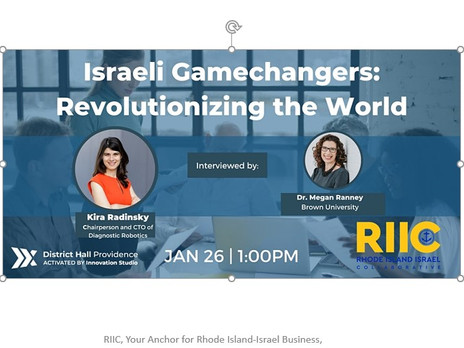 Israeli Gamechangers:  January 26, 1pm EST  with Dr. Kira Radinsky
