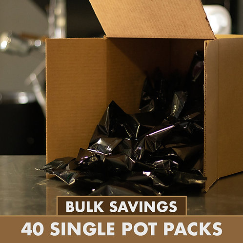 Buy In Bulk - 40 Single Pot Packs