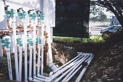 Irrigation manifold and water lines lines