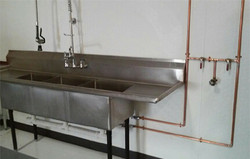 Commercial sink installation