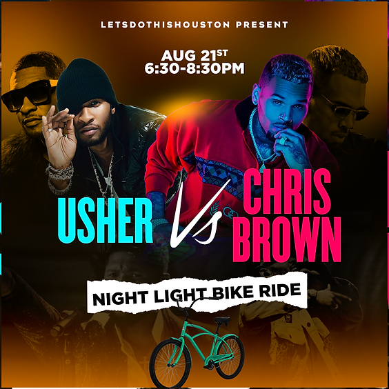 Usher vs Chris Brown Night Light Bike Ride