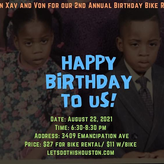 Xav & Von's 2nd annual Birthday Bike Ride